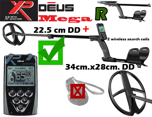 XP DEUS V3.2 MEGA - R without wireless Headphones