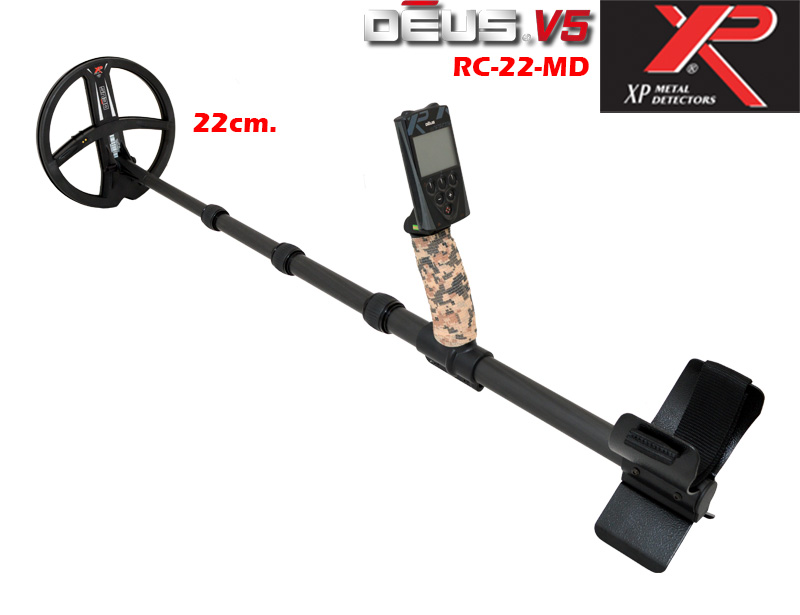 Metal detector XP DEUS v.5 - RC and coil 22 and carbon holder MDETECTORS