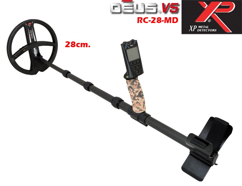 Metal detector XP DEUS v.5 - RC and coil 28 and carbon holder MDETECTORS